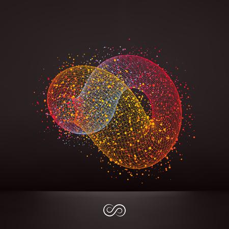 infinity symbol: Infinity symbol. Abstract 3d design element, emblem. Vector illustration.