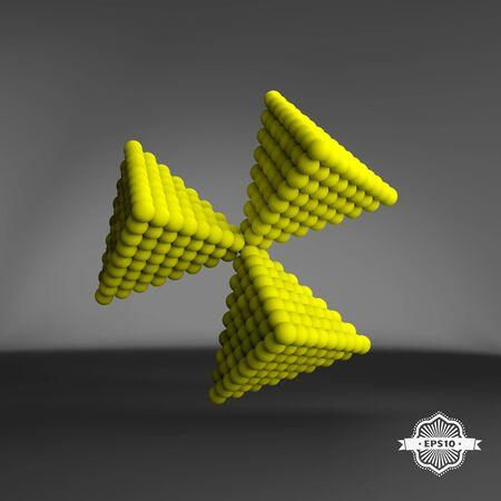 pyramidal: Pyramid of balls. 3d vector abstract illustration.