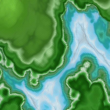 topographical: Abstract Landscape Background. Mosaic. 3d Vector Illustration.