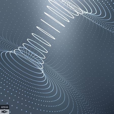 abstrato: Superfície 3d abstrato olha como Funnel Ilustração