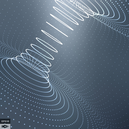 abstract: Superfície 3d abstrato olha como Funnel