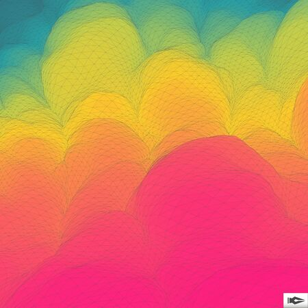 backdrop design: Colorful Abstract Geometric Background. Mosaic. Multicolor Design Template. Perspective Grid Backdrop. Vector Illustration. Illustration