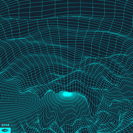 scifi: Grid Background. 3d Vector Illustration. Futuristic Technology Style. Illustration