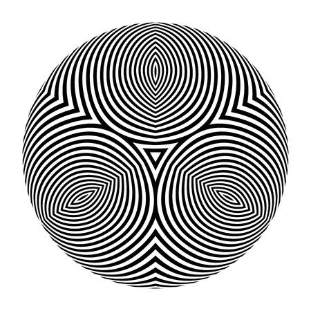 arte optico: Resumen elemento de diseño. Arte óptico. Ilustración del vector.