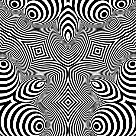 arte optico: Pattern With Optical Illusion. Abstract Background. Optical Art. 3d Vector Illustration.