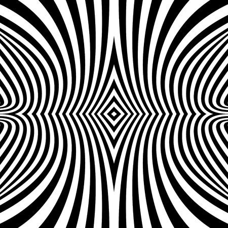 arte optico: Modelo Con la ilusi�n �ptica. Resumen Antecedentes. Optical Art. Ilustraci�n del vector 3d. Vectores