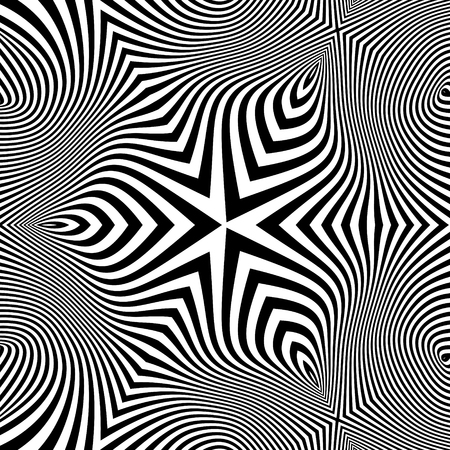 geometrical pattern: Abstract 3d Geometrical Background. Pattern With Optical Illusion. Vector Illustration. Illustration