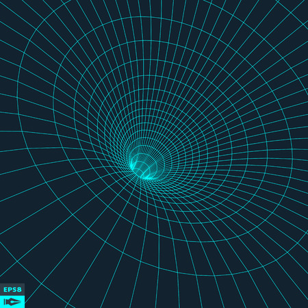 wormhole: Abstract 3d Surface Looks Like Funnel. Illustration