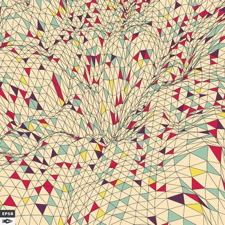 backdrop: Colorful Mosaic Backdrop. Abstract Geometric Pattern. Vector Illustration. Illustration