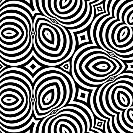 tile pattern: Black and White Background.
