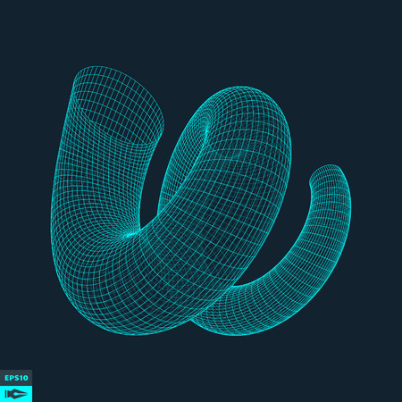 twist:  Connection structure. 3d Vector Illustration. Illustration