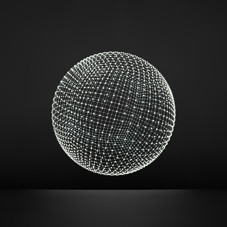 surfaces: 3d Sphere. Global Digital Connections.