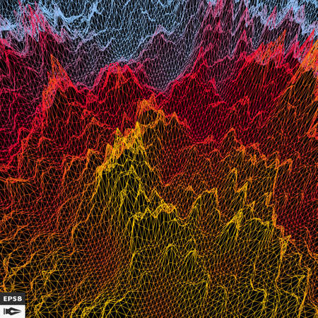 technology background: Grid Background. 3d Illustration. Futuristic Technology Style. Illustration