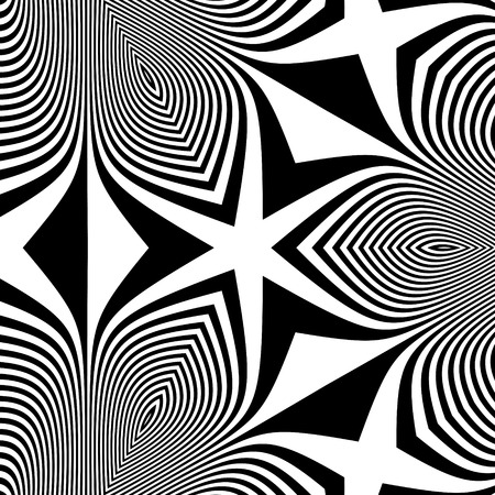 arte optico: Pattern With Optical Illusion. Abstract Background. Optical Art.  Vectores