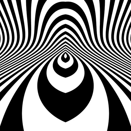 illusion: Pattern With Optical Illusion. Abstract Background. Optical Art. 3d Vector Illustration.