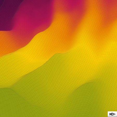 undulated: Wavy Grid Background. Mosaic. 3d Abstract Vector Illustration.