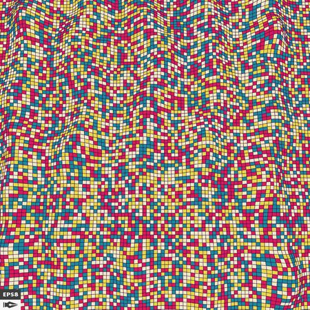 abstrakcja: Kolorowe pikseli mozaiki. Abstract Background. Wielokątne ilustracja. Ilustracja