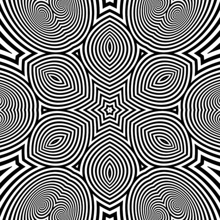 microprint: Abstract Striped Background. Black and White Vector Illustration.