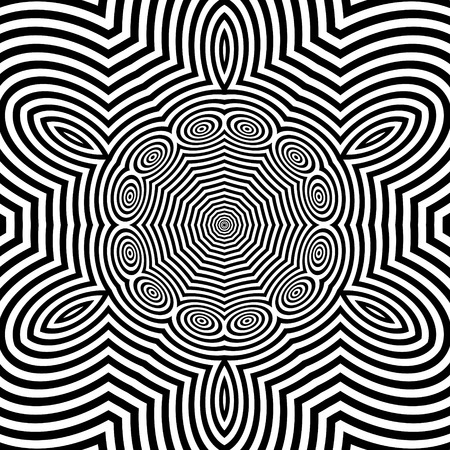 microprint: Black and White Background. Abstract Vector Illustration.