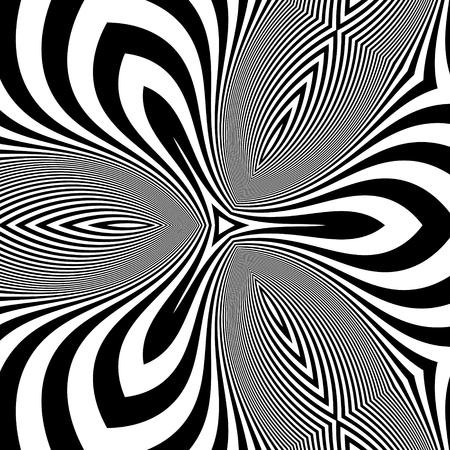 arte optico: Modelo Con la ilusión óptica. Fondo abstracto. Arte óptico.