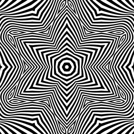 Black and White Background. Abstract Illustration. Illustration
