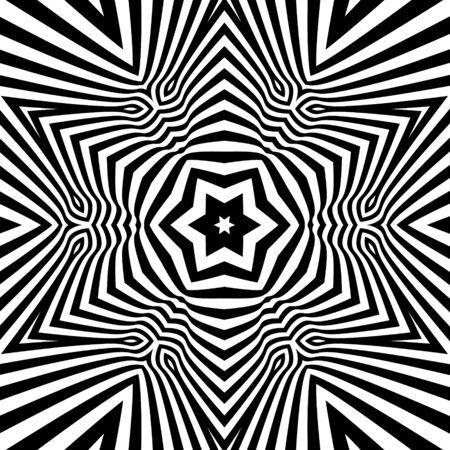 microprint: Black and White Abstract Striped Background.  Illustration