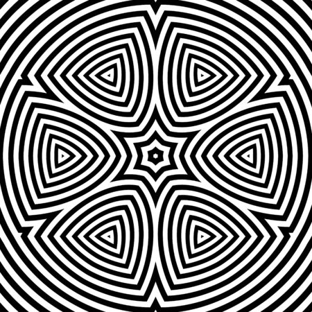 guilloche pattern: Black and White Abstract Striped Background.