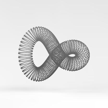 loop: Símbolo infinito. Resumen 3d elemento de diseño, emblema, icono. Ilustración del vector.