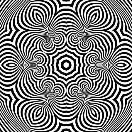 rectangle: Abstract Striped Background. Black and White Vector Illustration.