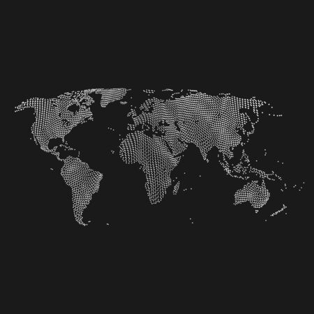 worldmap: Vector map of the world. Business background. Illustration