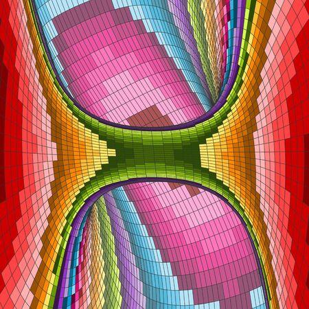 tubular: Colorful Mosaic Background. Polygonal Vector Illustration. Illustration