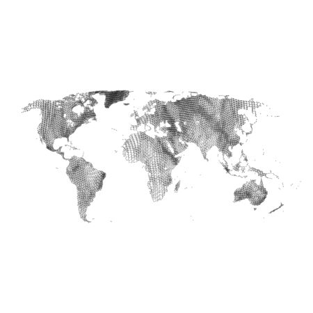 communications technology: Map of the World. Global Network Mesh. Social Communications Background. Technology Style. Connection Structure. Polygonal Vector Background. Template for Business Presentations. Illustration