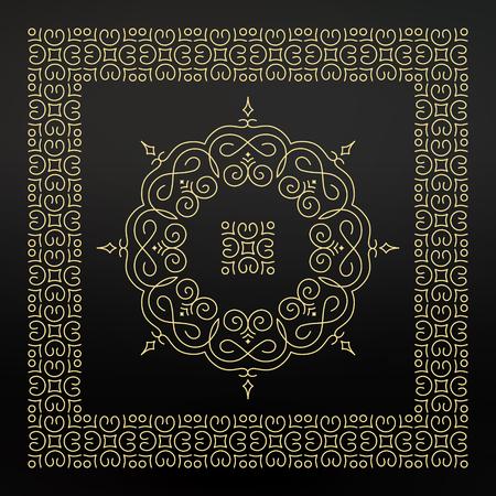lace pattern: Ethnic Circle Element. Orient Traditional Design. Lace Pattern. Mandala Round Ornament. Vector Fashion Illustration.