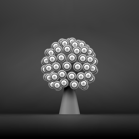 social web: Abstract Tree. Concept for Communication, Business, Social Media, Technology, Network and Web Design. 3d Vector Illustration.