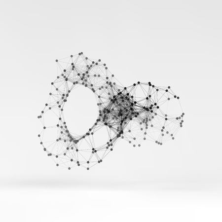 limitless: Connection Structure. Wireframe Vector Illustration.
