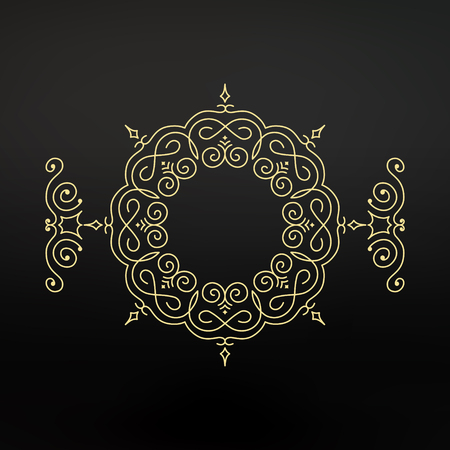 asian and indian ethnicities: Ethnic Circle Element. Orient Traditional Design. Lace Pattern. Mandala Round Ornament. Vector Fashion Illustration.