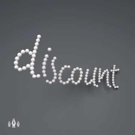 usable: DISCOUNT. 3D Vector Text illustration. Usable for Different Business Design.