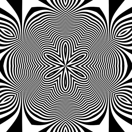 illusion: Black and White Background. Abstract Vector Illustration.