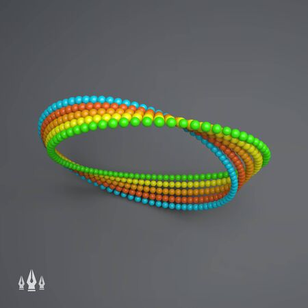 mobius symbol: Mobius strip variation. Infinity Sign. Classic Optical Illusion. Geometrical Figure. Moebius loop. Mobius band with 180 degrees rotation. Connection Structure. Impossible Circle Sign.