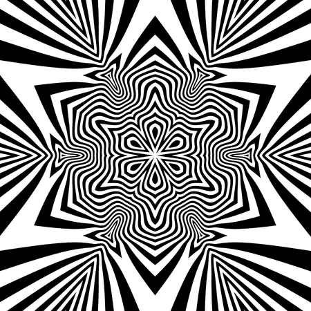microprint: Abstract Striped Background. Black and White Illustration.