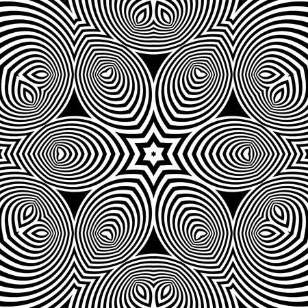 microprint: Black and White Abstract Striped Background.