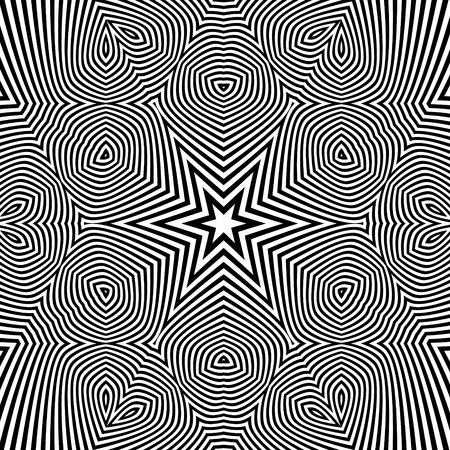 microprint: Black and White Geometric Pattern. Abstract Striped Background.