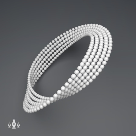 torsion: Mobius strip variation. Infinity Sign. Classic Optical Illusion.