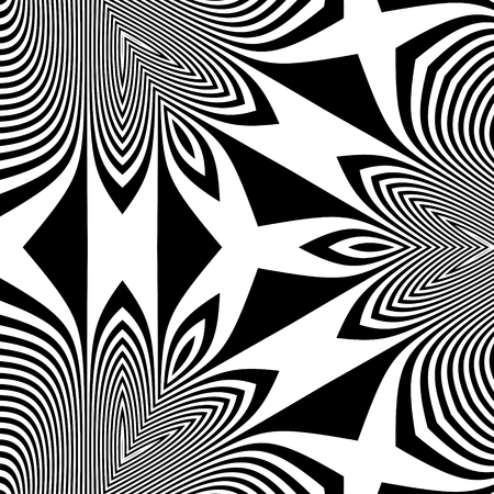illusion: Abstract 3d Geometrical Background. Pattern With Optical Illusion.