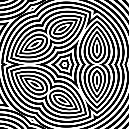 illusion: Pattern With Optical Illusion. Abstract Background.