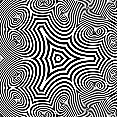optical: Pattern With Optical Illusion. Abstract Background. Optical Art.