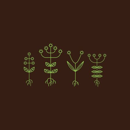flora  vector: Flora Elements. Eco Sign. Vector Illustration. Vector Printing for Natural Products.