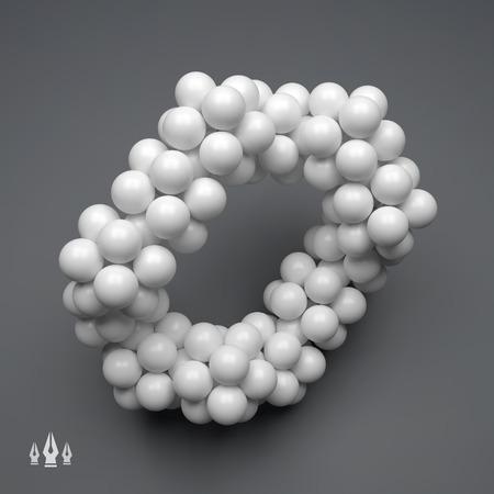 3D Molecule Structure. Futuristic Technology Style. 3D Vector illustration for Science, Technology, Marketing, Presentation. Connection Structure. Network Design. 3D Vector illustration. 일러스트