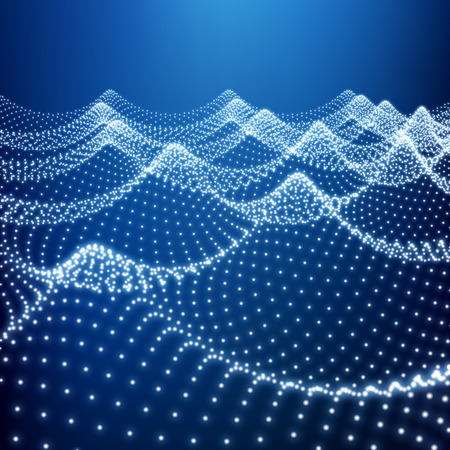 water flow: Water Surface. Wavy Grid. Lattice Structure. Ripple Grid. 3D Technology Style. Abstract Grid Background. A Glowing Grid. 3D Network Design. Digital Abstract Background. 3D Vector Illustration.