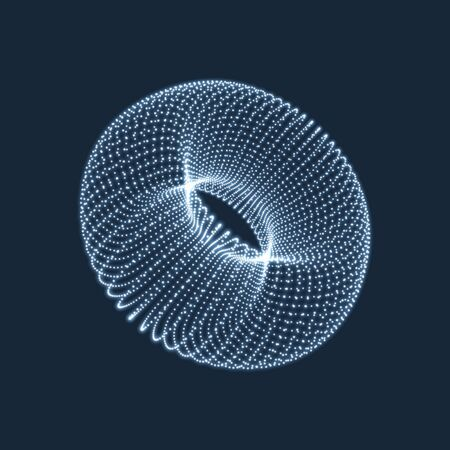 torus: Torus. The Torus Consisting of Points. Connection Structure. Torus Shape  Wireframe. 3D Grid Design. A Glowing Grid. 3D Technology Style. Network Design. Molecular lattice. Cyberspace Grid.